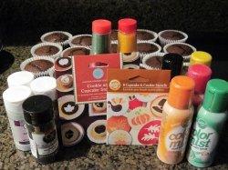 Cupcake Stenciling supplies