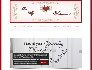 Valentine Day Website