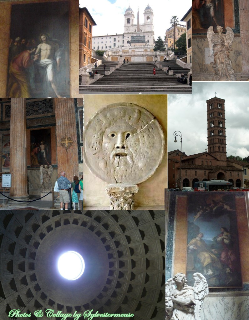Pantheon Photo Collage - Photos & Collage by Sylvesteermouse