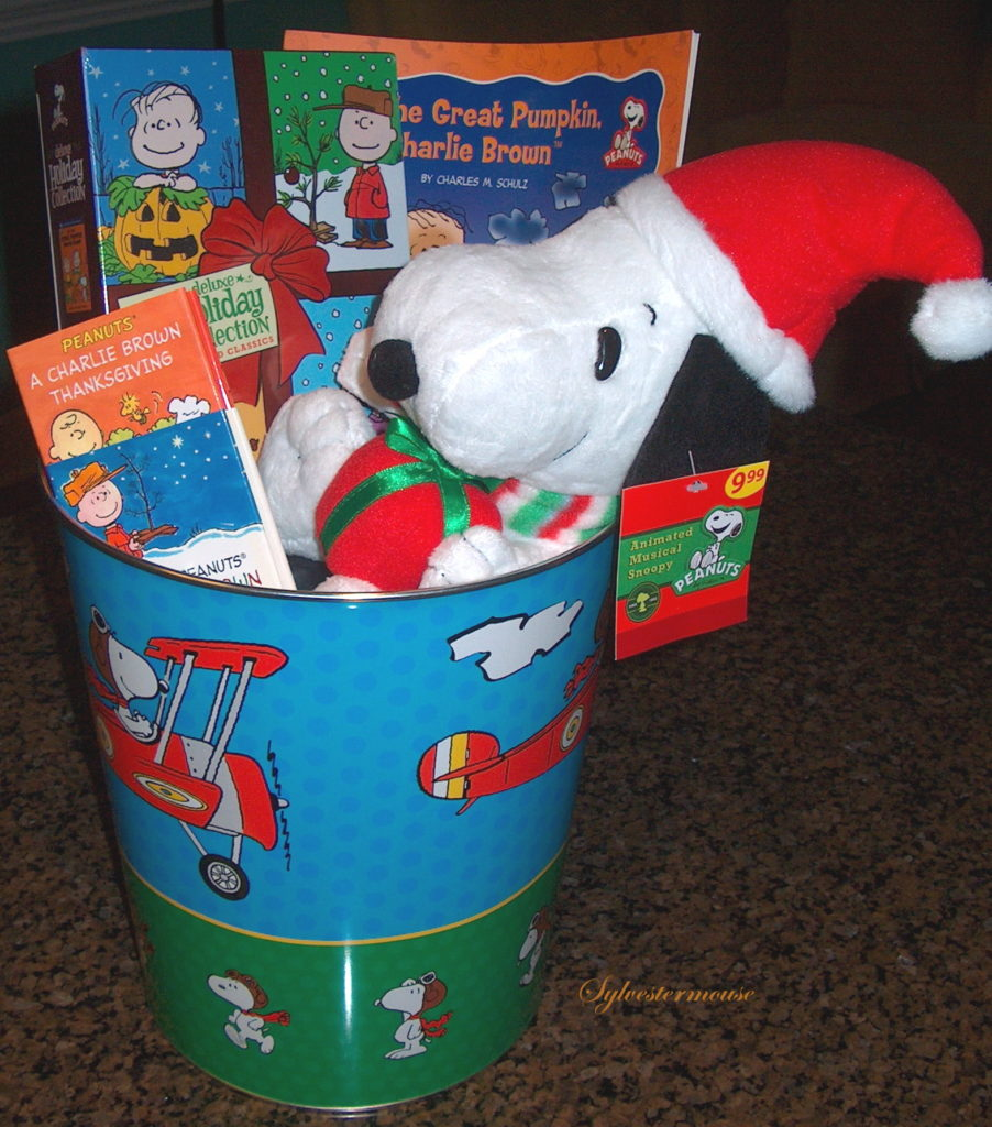 Decorative Trash Can Gift Baskets