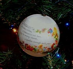 Granddaughter Christmas tree ornament