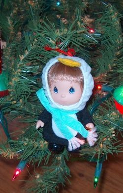 Precious Moments Doll Christmas tree ornament
