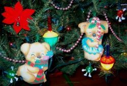 Fabric Bear Christmas tree ornaments