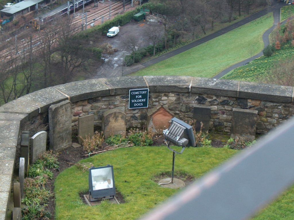 Cemetery for Soldiers Dogs at Edinburgh Castle photo by Sylvestermouse
