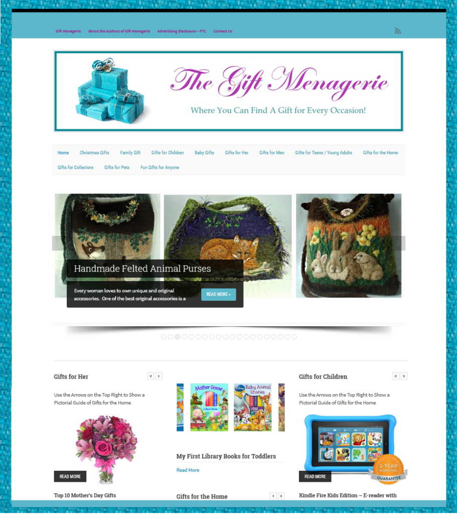 Gift Menagerie Site